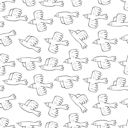 Birds. Seamless vector pattern (background).