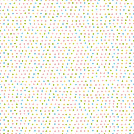 Multicolored dot. Little circles. Seamless vector pattern (background). Spots on a white background.