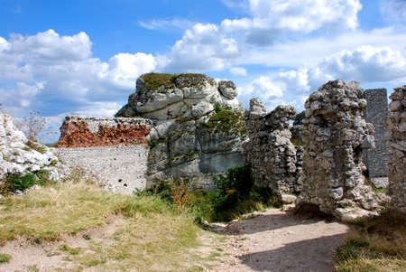 mirow: Ruins of the castle in Olsztyn near Czestochowa (Poland)