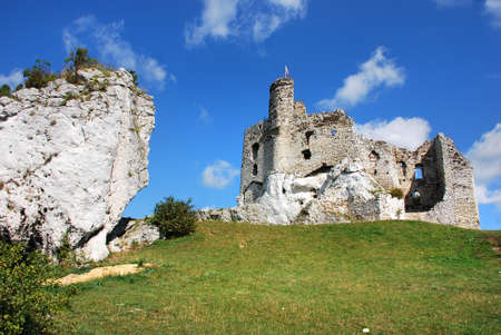 mirow: Ruins of the castle in Mirow (Poland)