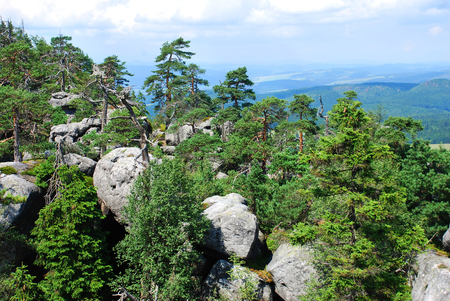sudetes: Unique in terms geological Table Mountains (Sudetes, Poland)