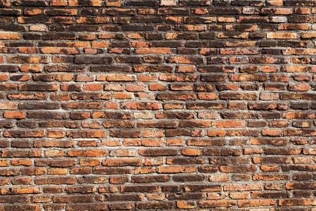 古代のレンガの壁のテクスチャと背景。