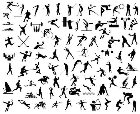 outdoor fitness: sport icons Stock Photo