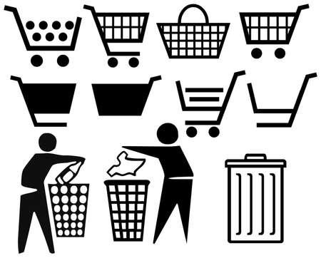 dustbin: basket isolated