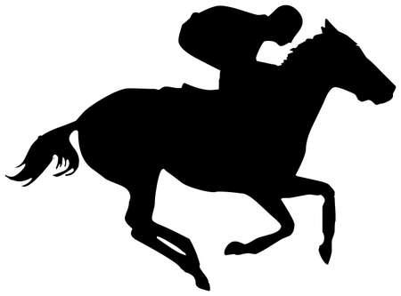 carreras de caballos: caballo Foto de archivo