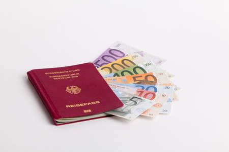 travel  passport  money  isolated Stock Photo - 8648731