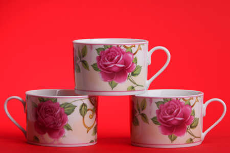 cup background rose red photo