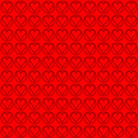 muster: valentine pattern red heart Stock Photo