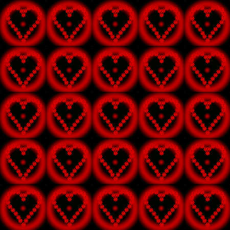 valentine pattern red heart Stock Photo - 8648748