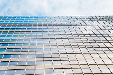 abstract glass skyscraper. Glass wall of office buildings. modern glass silhouettes. Modern office. Stock Photo - 10976730