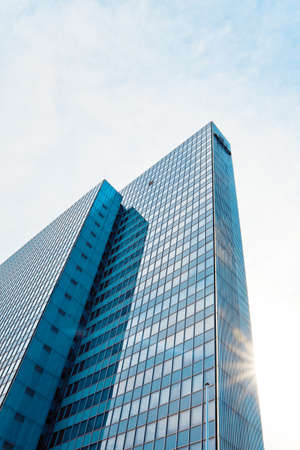 abstract glass skyscraper. Glass wall of office buildings. modern glass silhouettes. Modern office. Stock Photo - 10976735