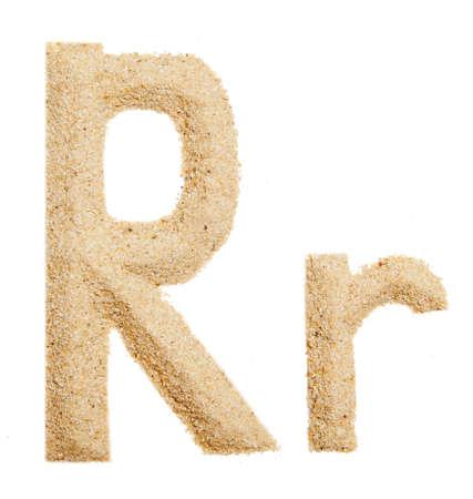 sand alphabet isolated