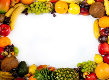 fruits frame Stock Photo - 11043994
