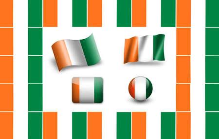 cote d ivoire: Flag of Cote d