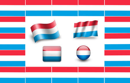 flag of  Luxembourg. icon set. flags frame(20).jpg photo