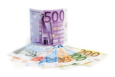 500 euro money gift isolated photo