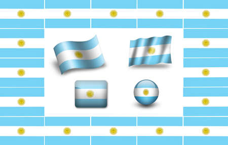 buenos: Argentina flag icon set