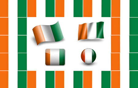 cote d ivoire: flag of country of Djiboutii Stock Photo