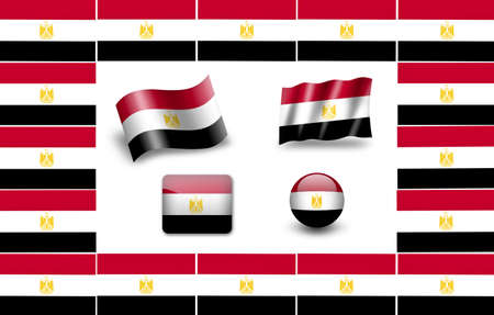flag of Egypt. icon set photo