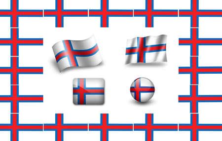 flag of French Polynesia. icon set photo