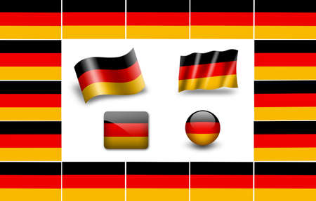 flag of Germany. icon set photo