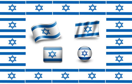 flag of Israel. icon set photo