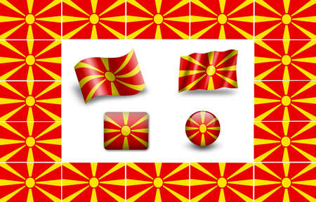 Flag of Macedonia. icon set photo