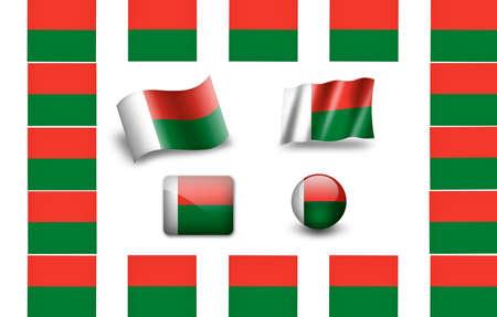 Flag of Madagascar.icon set photo