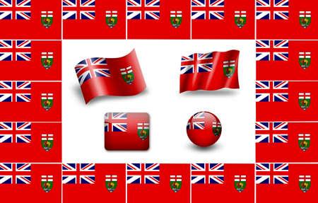 manitoba: flag of Marshall Islands. icon set