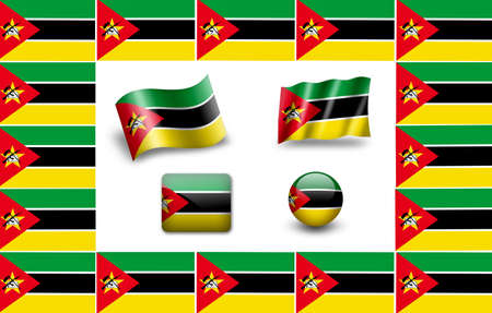 flag of Mozambique. icon set Stock Photo - 12011972