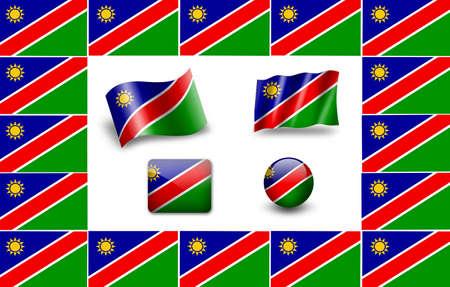 Flag of Namibia. icon set photo