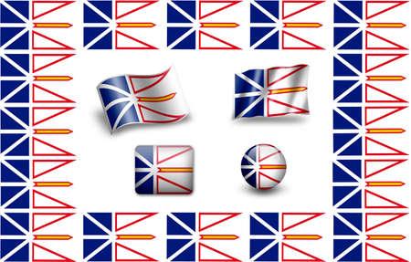 prairie dog: Flag of Newfoundland and Labrador. icon set