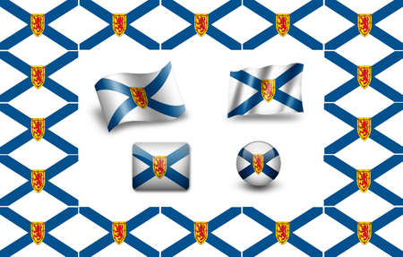 Flag of Nova Scotia. icon set photo