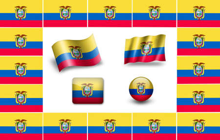 sovereign: Sovereign state flag of country of Ecuado