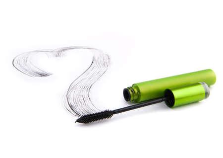 black mascara brush stroke photo
