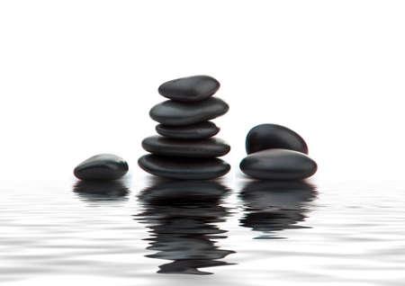zen stones. Black massage stones stacked, photo