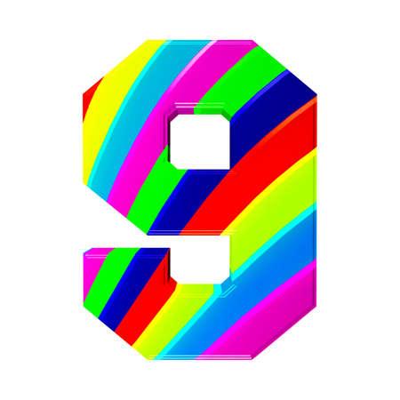 offset printer: abstract alphabet