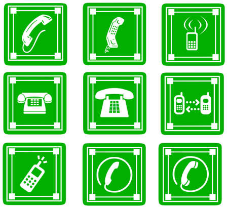bakelite: phone icons, signs, illustrations set  telephone icons collection