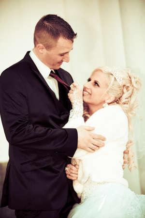 Bride and groom. beautiful wedding couple. photo