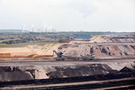 brown coal  excavator photo