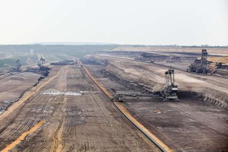 brown coal  excavator Stock Photo - 12836400