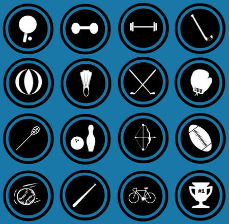 Sport equipment icons  sport icons Stock Photo - 12836339