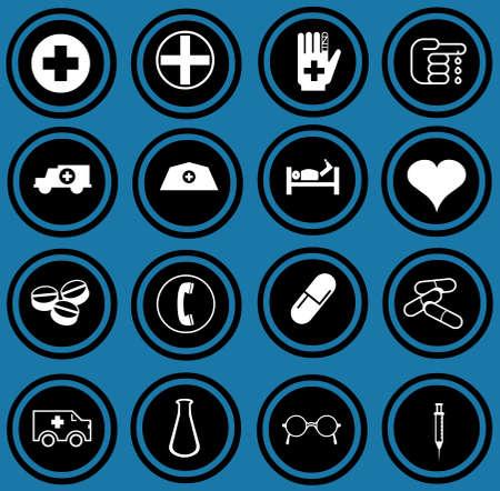 Medical icons set Stock Photo - 12836337