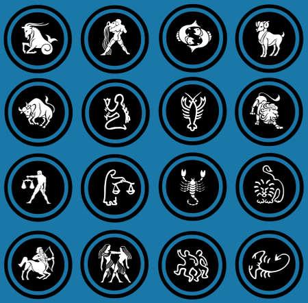 virgo the virgin: zodiac icons   Stock Photo
