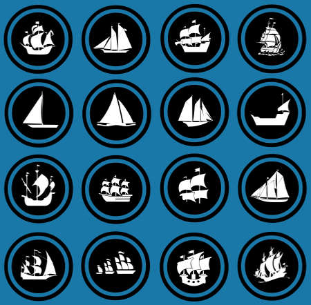ship icons  Icon set Boats photo