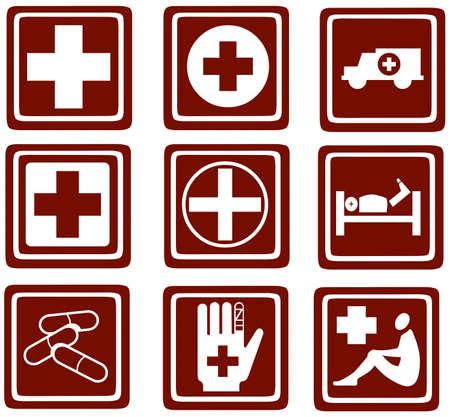 health symbol: medicine icons  Web Buttons