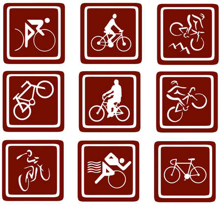 bikes icons set Stock Photo - 12836290