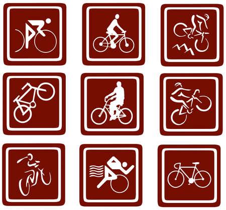 bikes icons set Stock Photo - 12836290