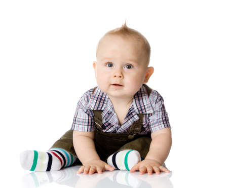 baby facial expressions: baby boy isolated