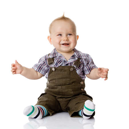 baby boy isolated photo